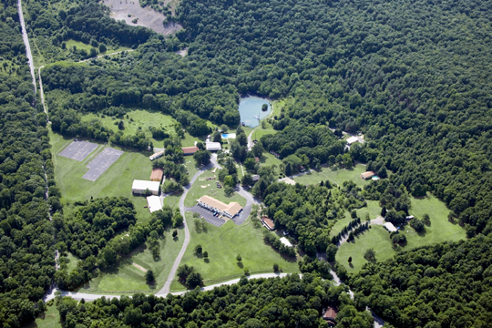 Aerial View of Twin Pines