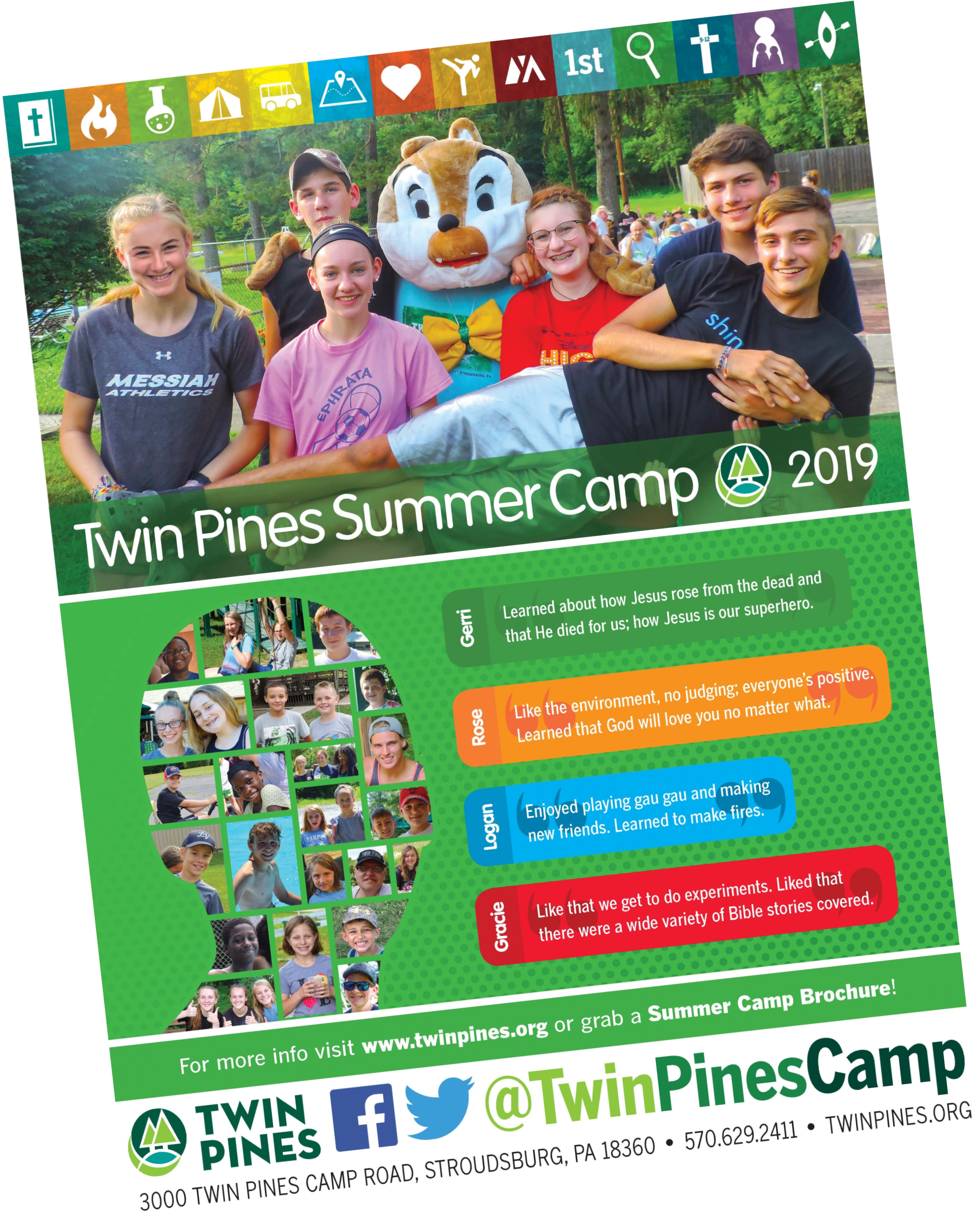 2019 Summer Camp Promo Resources - Twin Pines Camp